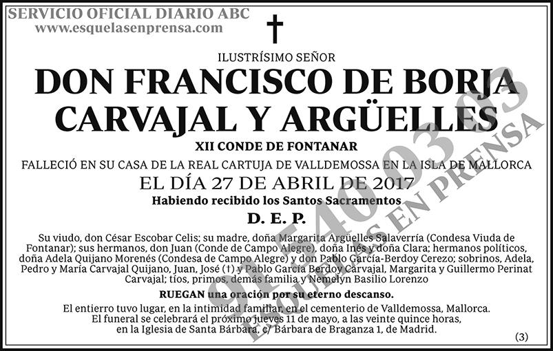 Francisco de Borja Carvajal y Argüelles